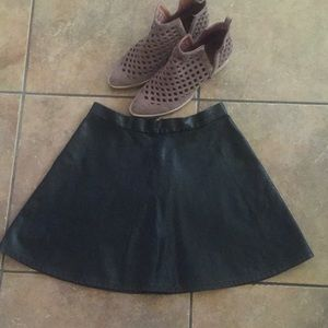 American Eagle Outfitters Faux Leather Mini Skirt